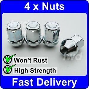 MG MGF 1995-2005 Wheel Locking Nuts M12x1,5 Anti-theft For Alloys CA