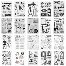 Alphabet Transparent Silicone Clear Stamp Cling Diary DIY Scrapbooking Album Art