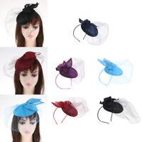 Vintage Birdcage Veil Fascinators Cocktail Headband Derby Race Hat Clip