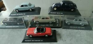Lot 6 voitures miniatures PEUGEOT 1/43EME