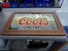 "Vintage 1983 Coors On Tap Mirror 27.5"" x 17.5"""