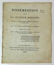 *** INTROUVABLE : DISSERTATION SUR LA PUSTULE MALIGNE PAR J. F. XAVIER GERARDIN