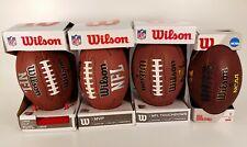 Lot of 4 -3 Nfl & 1 Ncaa Wilson Footballs