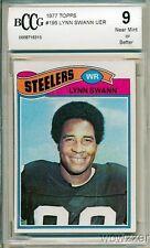 1977 Topps #195 Lynn Swann UER BECKETT 9 Pittsburg Steelers