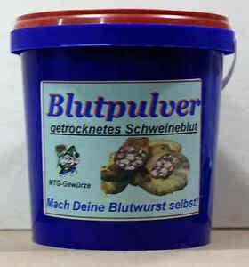 Blutpulver -getrocknetes Schweineblut- 500gr Eimer für Hobbyfleischer