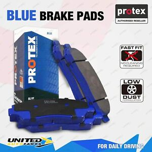 4pcs Protex Front Blue Brake Pads for Mazda 121 DW Metro 08/1996 - On