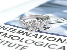Fine Round Cut Diamond Three-Stone diamond WG Ring COAST Designer 1.26Ct IGI