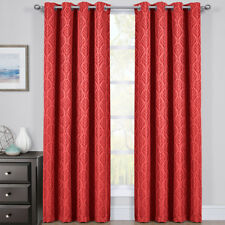 Hilton Blackout Curtains Panels Jacquard Thermal Insulated Pairs (Set of 2)
