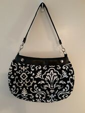 THIRTY-ONE BLACK/WHITE FLORAL Skirted Shoulder Bag/Tote