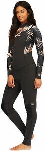 Billabong Women's Salty Dayz 3/2mm Chest Zip Full Wetsuit - Black Pebble - New