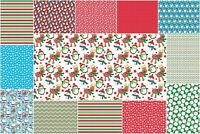 Christmas printed canvas fabric hair bow making 1