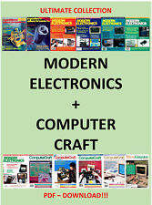 COLLECTION OF MODERN ELECTRONICS + COMPUTER CRAFT 1978 - 1994 - PDF DOWNLOAD!!!