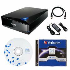 ASUS BW-16D1X-U 16x BD Blu-Ray Drive with USB 3.0 + FREE 1pk 100GB MDisc BDXL