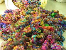 Himalaya Sari Silk Yarn Multicolor 1000 Grams Bulky Weight Handspun Unique