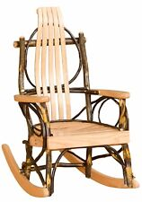 Rustic Hickory and Oak Children's Rocker - Amish Made in USA