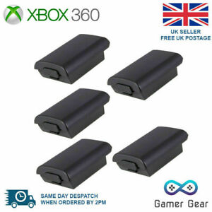 Xbox 360 Controller Battery Back Cover Case Shell - Black 5 pack