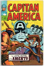CAPITAN AMERICA corno N.91 L'ARCIERE D'ARGENTO luke cage power man hawkeye 1976