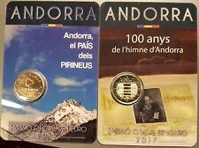 2 * 2 Euro Sondermünze Andorra 2017 100 Jahre Hymne Andorras / land in Pyrenäen
