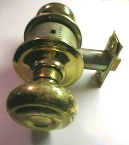 Schlage M45 1950 Passage Door Knob Set Bright Brass Reversible Cylindrical Latch