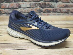 Men's Brooks Ghost 12 Navy/Gold Running Shoe  *110316489