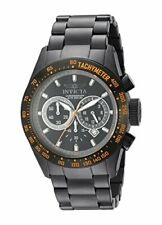 Invicta Men's Speedway Chrono 200m Black Ion Plated Stainless Steel Watch 19295