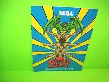 Sega ALTERED BEAST 1988 Original Video Arcade Game Service Repair Owners Manual
