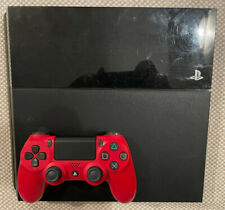 Sony PlayStation 4 (PS4) - Original model with Red Dual Shock 4 Controller