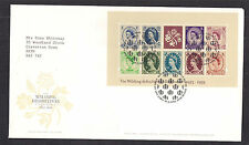 GB 2003 QE2 FDC wildings Definitives 2nd emettere MS SHS (R13)