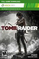 Tomb Raider Full Game Download Code Card Microsoft Xbox 360 Live - REGION FREE