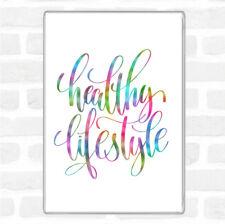 Healthy Lifestyle Rainbow Quote Jumbo Fridge Magnet