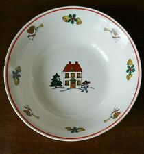 "Classic Collectors Studio Joy of Christmas Dishes 7"" Bowls limited  firing days"