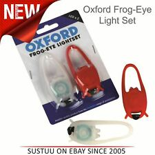 Oxford Bike Cycle Frog-Eye Light Set│Front White & Rear Red Twin LEDs│LD666