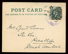 GB QV 1905, 1/2d Stationery Cut Out On Card Much Wenlock RSO Violet CDS #C11238