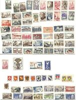 France + French Colonies Stamps - 79 Used Stamps from 1930's Lot / Collection