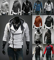 Mens Slim Casual Hoodie Sweatshirt Hooded Jackets Coat Jumper Tops Outwear