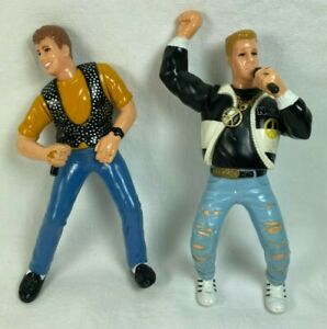 """NKOTB Action Figures Donnie Wahlberg & Joey McIntyre 5"""" - 1990 Poseable Boy Band"""