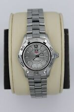 Tag Heuer WAF1412.BA0823 Silver Gray Aquaracer Watch Womens MINT CRYSTAL 300M