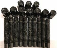 10 X M12X1.5 Aleación Pernos de rueda + tuerca De Conversión Negro 90 mm Para BMW 72.6 2