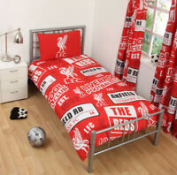 LIVERPOOL FC 'PATCH' SINGLE DUVET COVER SET NEW FOOTBALL ANFIELD ADULTS KIDS
