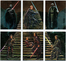 STAR WARS FINEST SET OF SIX EMBOSSED CARDS