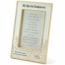 Dicksons Resin Photo Frame, My Special Godparent/White Baby