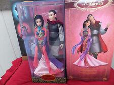 Disney Mulan and Li Shang Doll Set 2014 Fairytale Collection Ltd Ed NRFB MIB
