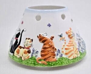 Yankee Candle CAT TALES Jar Shade Kittens Butterflies Fits Large & Med Jars