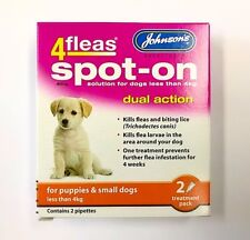 Johnson's 4fleas Spot-on Puppies up to 4kg - Puppy Lice Larvae Killer Treatment
