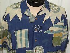 Men's MT The Territory Ahead Short Sleeve Shirt 100% Rayon Batik Multi-color