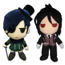 Gift Set of 2  Black Butler Plush - Ciel Phantomhive GE-8955 & Sebastian GE-8954
