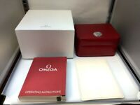 Genuine Omega Watch Box case Red Leather set 0315008