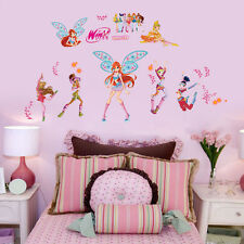 wall stickers Winx club girls decor kids removable PVC art decal home Au