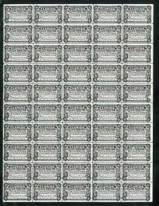 1925 Florida Fertilizer Inspection Tax Paid State Revenue Sheet of 50 on white