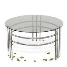 Couchtisch Retro Tisch Chrom vernickelt Gitter Stahlrohr Möbel Vintage Design